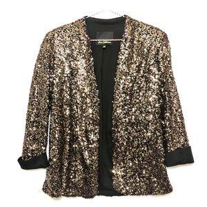 Sam Edelman Gold Sequin Blazer Size XS